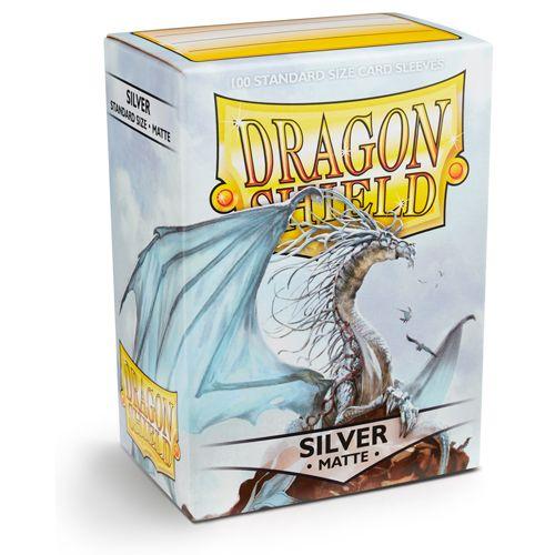 Dragon Shield Sleeves: Matte Silver (Box Of 100)