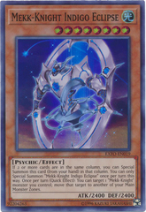 Mekk-Knight Indigo Eclipse - EXFO-EN019 - Super Rare - Unlimited Edition
