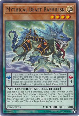 Mythical Beast Bashilisk - EXFO-EN025 - Rare - Unlimited Edition