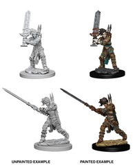 Pathfinder Battles Unpainted Minis - Female Human Barbarian