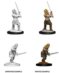 Pathfinder Battles Unpainted Minis - Male Human Barbarian