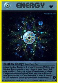 Rainbow Energy - 17/82 - Holo Rare - 1st Edition