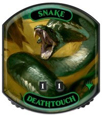 Ultra Pro - Relic Tokens: Eternal Collection - Snake (Deathtouch) - Foil