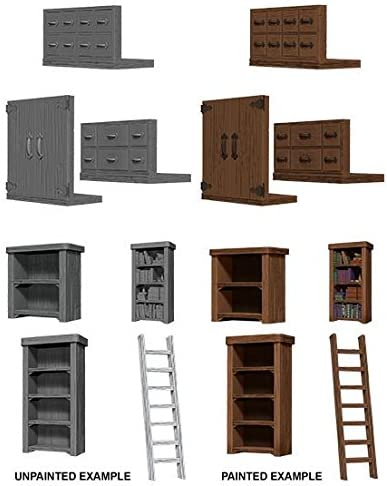 WizKids Deep Cuts Unpainted Miniatures: W5 Archivist Library