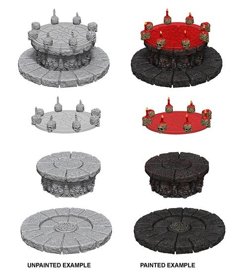 WizKids Deep Cuts Unpainted Miniatures: W5 Magic Dias