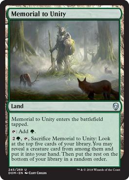 Memorial to Unity - Foil
