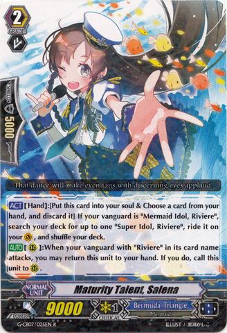 Maturity Talent, Salena - G-CB07/025EN - R - Cardfight
