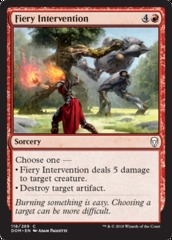 Fiery Intervention - Foil