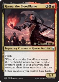 Garna, the Bloodflame - Foil - Prerelease Promo