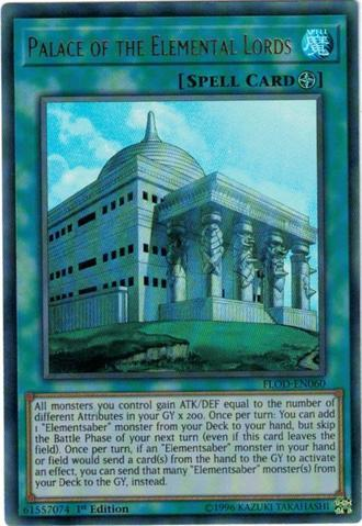 Palace of the Elemental Lords - FLOD-EN060 - Ultra Rare - 1st Edition