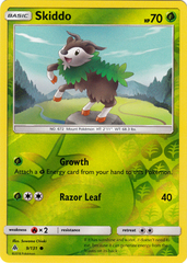 Skiddo - 9/131 - Common - Reverse Holo