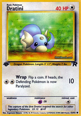Dratini - 53/82 - Common - 1st Edition on Channel Fireball