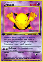 Drowzee - 54/82 - Common - 1st Edition on Channel Fireball