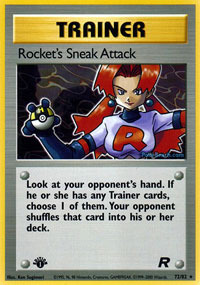 Rockets Sneak Attack - 72/82 - Rare - 1st Edition