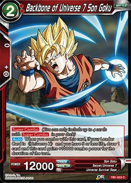 Backbone of Universe 7 Son Goku - TB1-003 - C