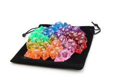 7 Set Translucent Rainbow Bundle + Satin-Lined Velvet Bag