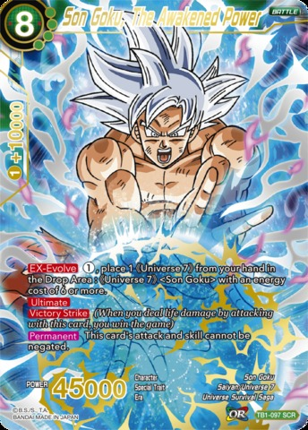 Son Goku, The Awakened Power - TB1-097 - SCR