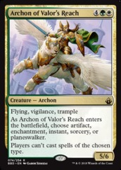 Archon of Valor's Reach - Foil on Channel Fireball