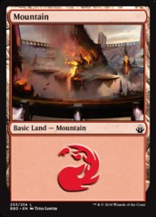 Mountain (253) - Foil on Channel Fireball