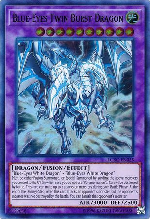 Blue-Eyes Twin Burst Dragon - LCKC-EN058 - Ultra Rare - Unlimited Edition