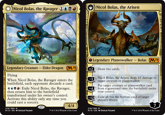 Nicol Bolas, the Ravager // Nicol Bolas, the Arisen - Foil
