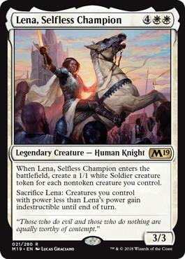 Lena, Selfless Champion