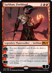 Sarkhan, Fireblood - Foil on Channel Fireball