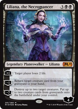 Liliana, the Necromancer - Foil - Planeswalker Deck Exclusive