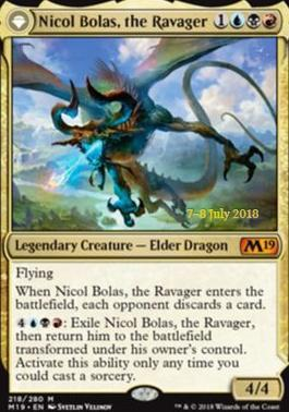Nicol Bolas, the Ravager // Nicol Bolas, the Arisen - Foil - Prerelease Promo