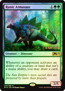 Runic Armasaur - Foil - Prerelease Promo