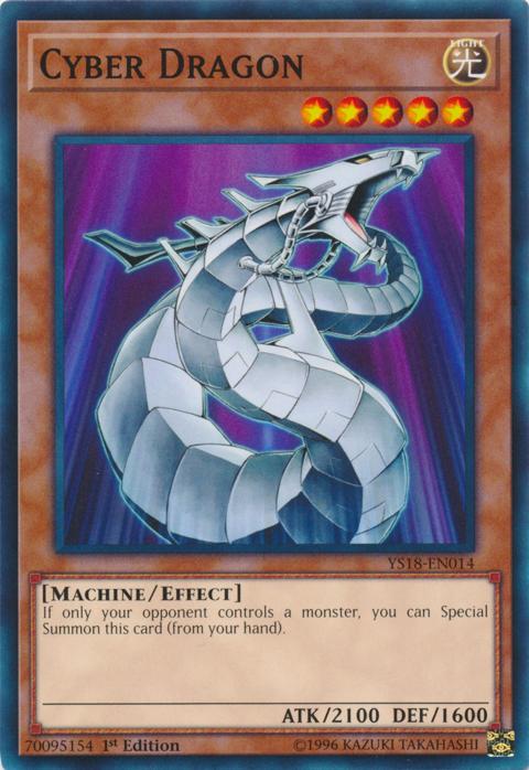Cyber Dragon - YS18-EN014 - Common - 1st Edition