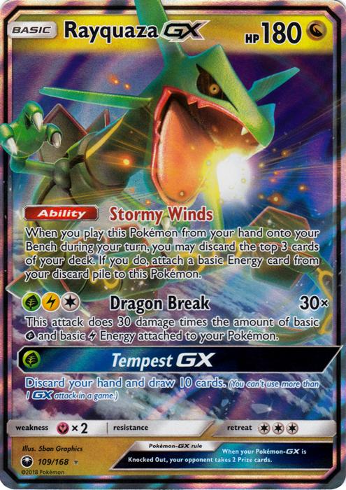 Rayquaza Gx 109 168 Ultra Rare Pokemon Singles 187 Sm