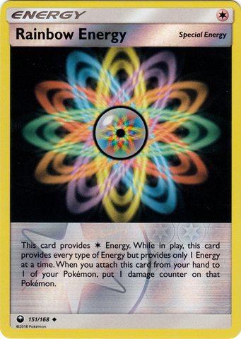 Rainbow Energy - 151/168 - Uncommon - Reverse Holo