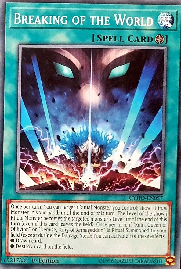 Breaking of the World - CYHO-EN057 - Common - 1st Edition