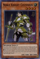 Noble Knight Custennin - CYHO-EN088 - Super Rare - 1st Edition