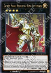 Sacred Noble Knight of King Custennin - CYHO-EN089 - Ultra Rare - 1st Edition