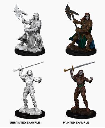 Nolzur's Marvelous Miniatures - Female Half-Orc Fighter