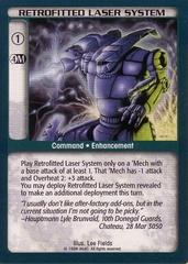 Retrofitted Laser System