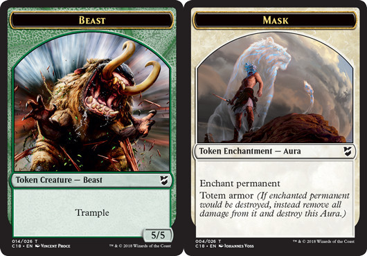 Beast Token (014) // Mask Token - Magic Singles » Special
