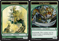 Elemental Token // Cat Warrior Token