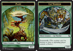 Plant Token // Cat Warrior Token