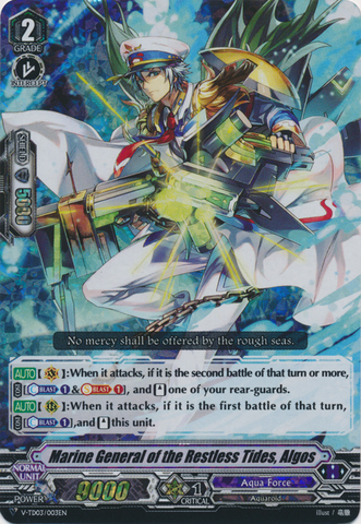 Marine General of the Restless Tides, Algos - V-TD03/003EN - RRR