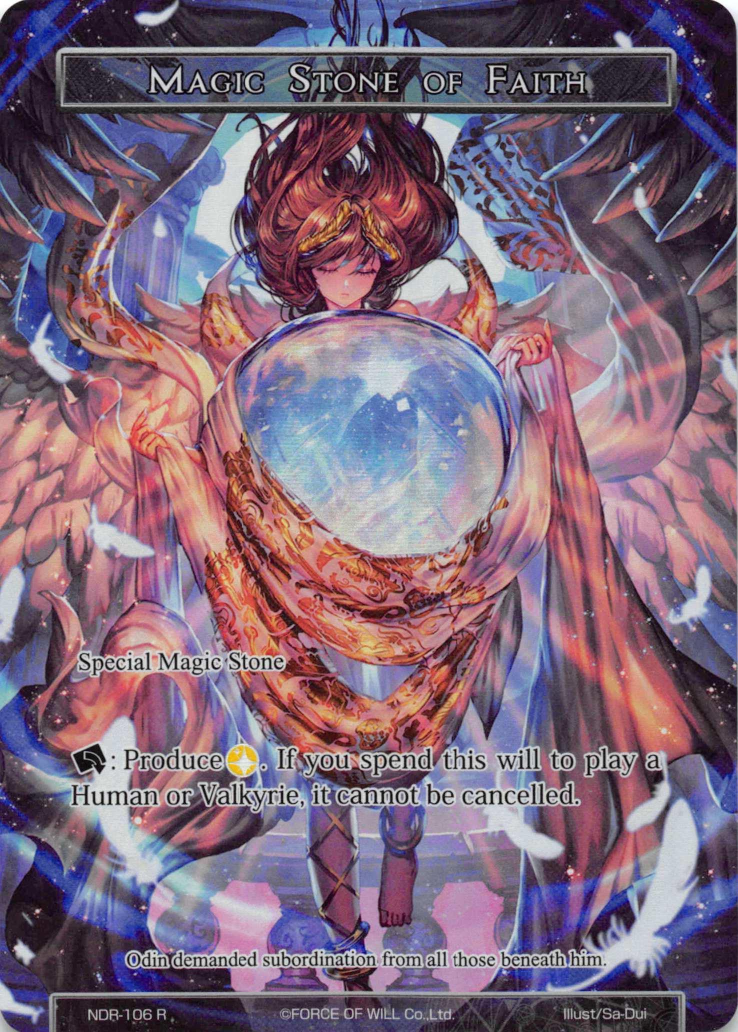 Magic Stone of Faith - NDR-106 - R - Full Art - Force of Will TCG Singles »  New Valhalla Cluster » New Dawn Rise - Carta Magica b3da9b3e42f1