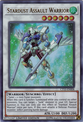 Stardust Assault Warrior - CT15-EN008 - Ultra Rare - Limited Edition