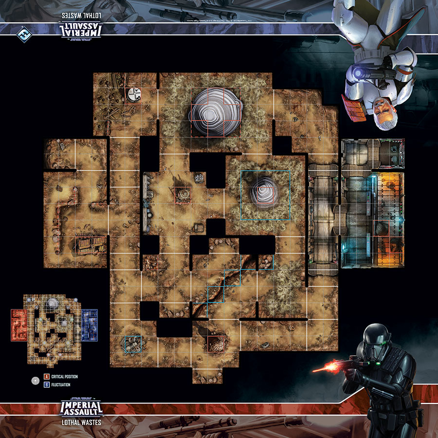 Star Wars Imperial Assault - Skirmish Map - Lothal Wastes
