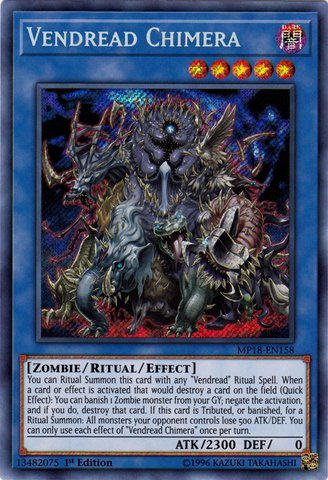 Vendread Chimera - MP18-EN158 - Secret Rare - 1st Edition