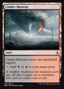 Cinder Barrens (Amonkhet) - Planeswalker Deck Exclusives
