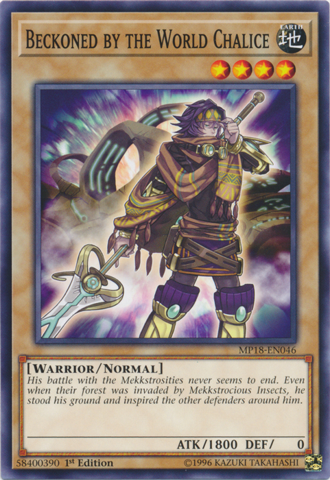Beckoned by the World Chalice - MP18-EN046 - Common - 1st Edition