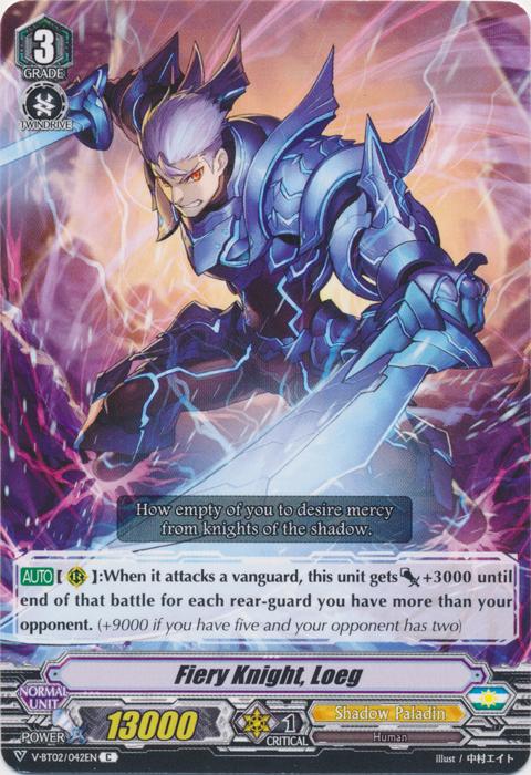 Fiery Knight, Loeg - V-BT02/042EN - C