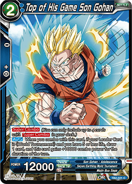 Top of His Game Son Gohan - TB2-021 - C - Foil